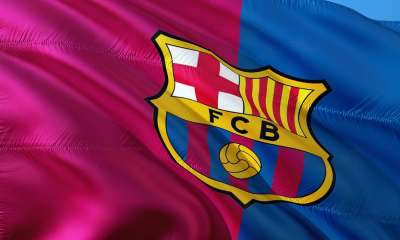 football fc barcelone drapeau