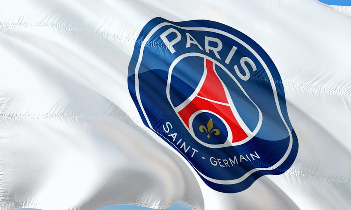 football psg logo drapeau
